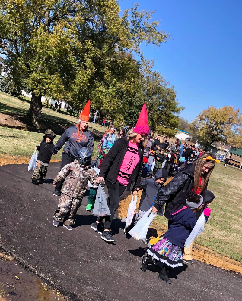 "Our ""Walk for a Cure"" and trick or treat Main Street! Thank you to all the businesses that donated and handed out candy!"